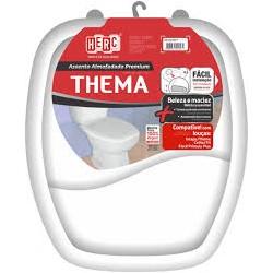 """Assento sanitário HERC almofadado """"quadrado"""" branco (THEMA)"""