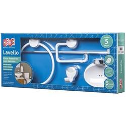 Acessorio WC - HERC - Kit Lavello bco./cr. 5 pç.