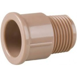 Adaptador marrom curto 60 mm PLASTUBOS